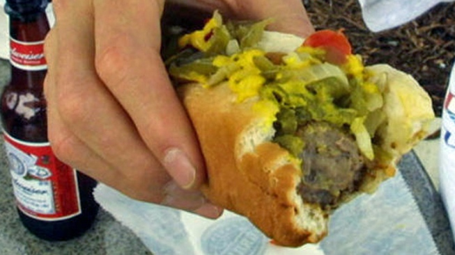 "Home of ""World's Largest Ketchup Bottle"" Eyes Bratwurst Record"