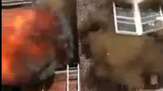 Caught on Cam: Explosion Rocks NJ Building During Fire