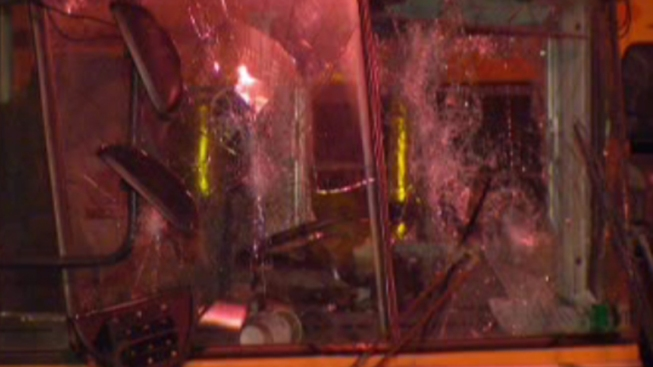 School Buses Vandalized in Northeast Philly