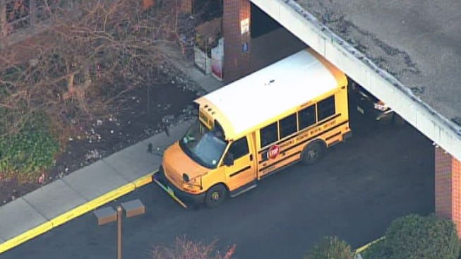 School Bus Sideswiped in Camden