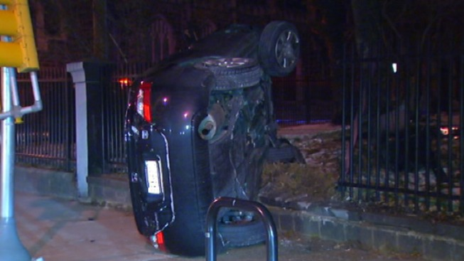 Woman Crashes Into Fence Outside Germantown High School