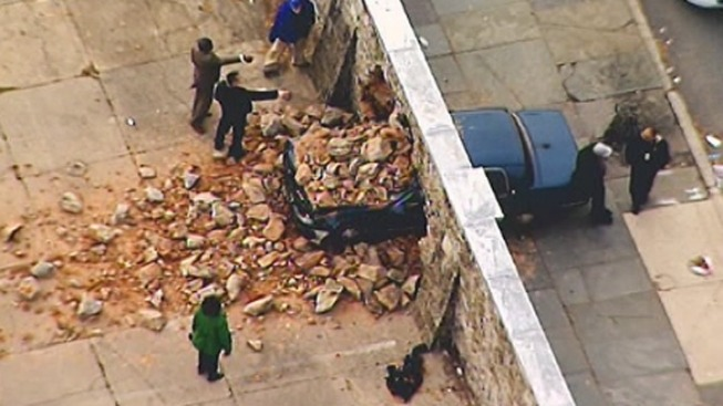 Driver Suffers Seizure, Crashes Into Girard College Wall