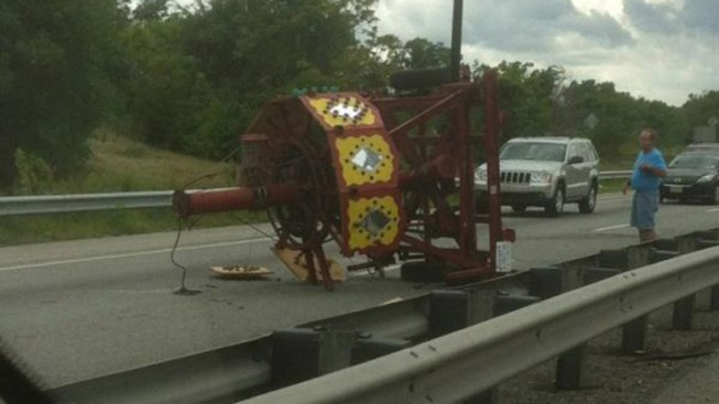 Piece of Carnival Ride Causes Mess on I-95