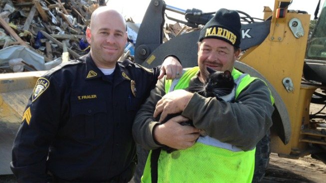 Cat Rescued From Rubble of Home Damaged by Sandy