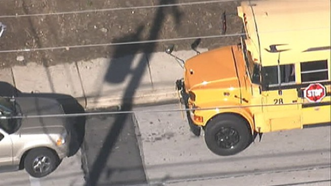 At Least 1 Hurt in Delco School Bus Crash