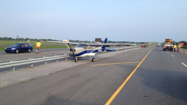 Small Plane Lands on Route 1 in Delaware