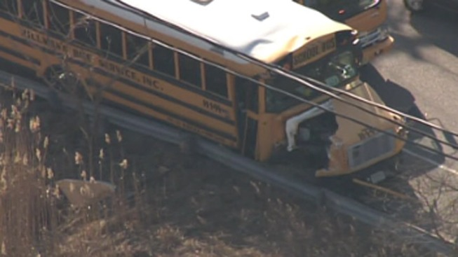 2 Injured in School Bus Accident