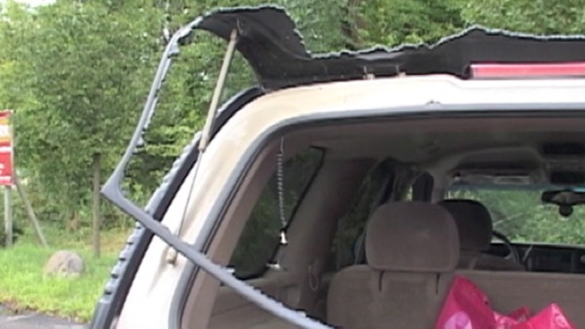 Bullet Strikes Car With Family Inside