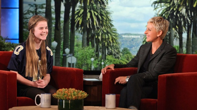 Local Girl Banned From Football Appears on Ellen