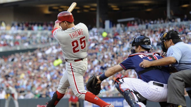 Phils Hang on in Win Over Twins