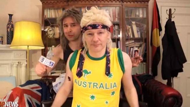 WATCH: Julian Assange Wears Mullet Wig in Rap Video Parody