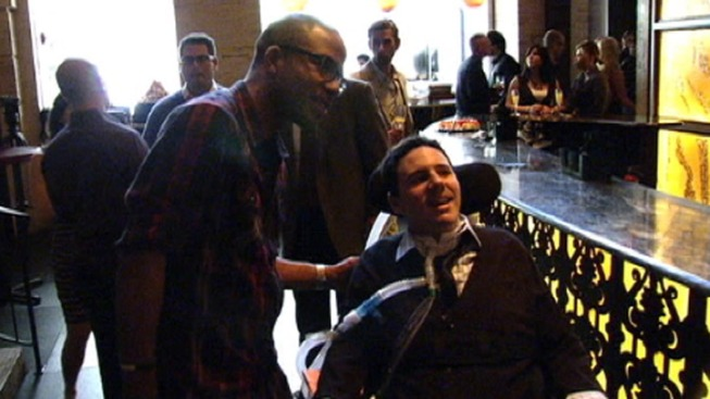 Man Paralyzed in Shooting Makes First Public Appearance