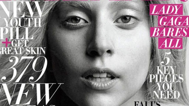 "Lady Gaga Goes Sans Makeup for ""Harper's Bazaar"""