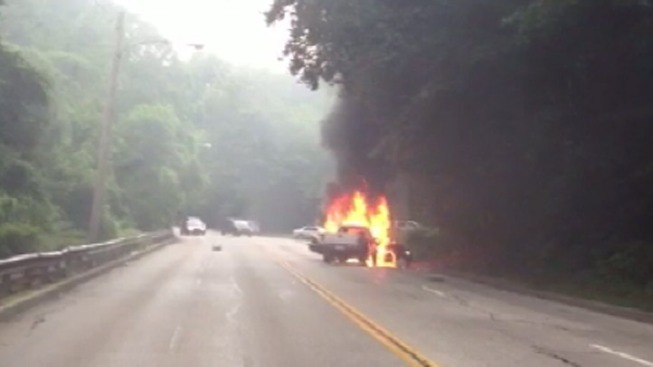 Man Killed After Car Bursts Into Flames on Lincoln Drive