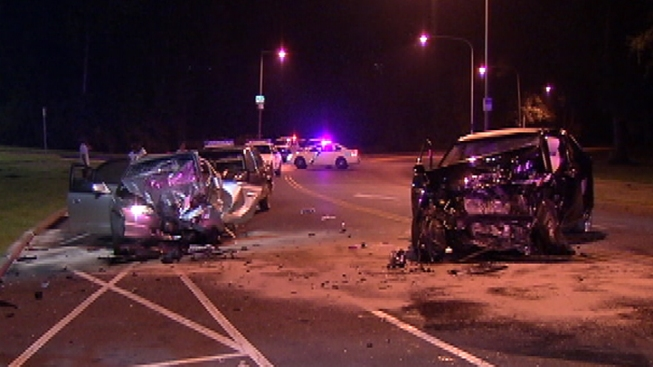Stolen Car Hits 2 Vehicles, Injures 3 During Police Chase