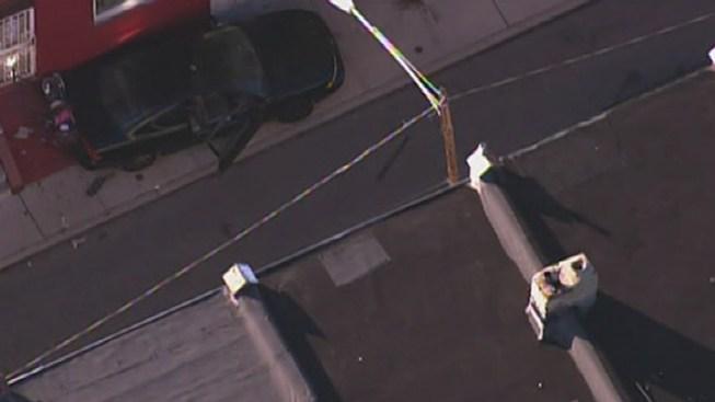 Man Shot, Crashes Car in Strawberry Mansion