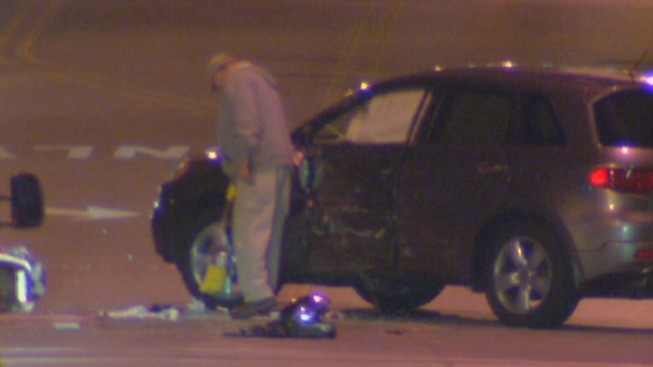 Man Killed, Woman Hurt After SUV & Motorcycle Collide