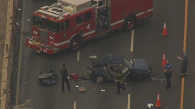 Multi-Vehicle Crash Shuts Down NJ Turnpike NB