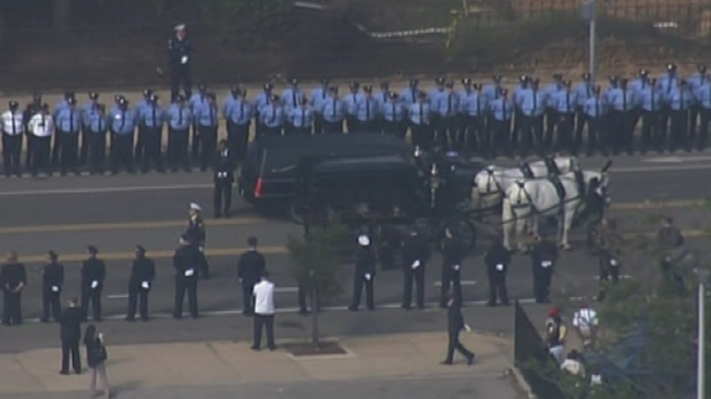 Funeral Services Begin for Officer Walker