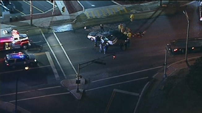 Person Trapped After Car Strikes Fire Hydrant on White Horse Pike