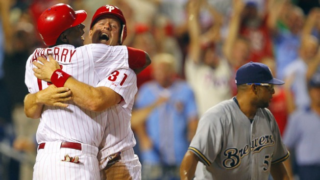 Phils Beat Brewers in Dramatic Comeback