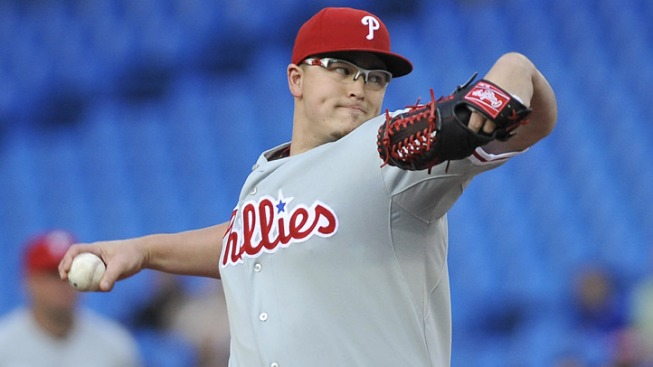 Phils Shut Out in Loss to Blue Jays