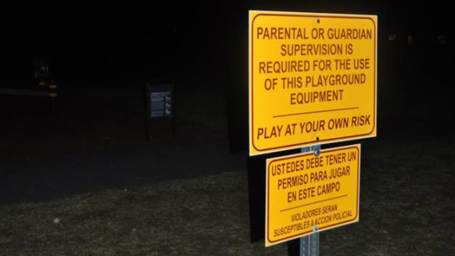 Playground Signs Spark Allegations of Racism