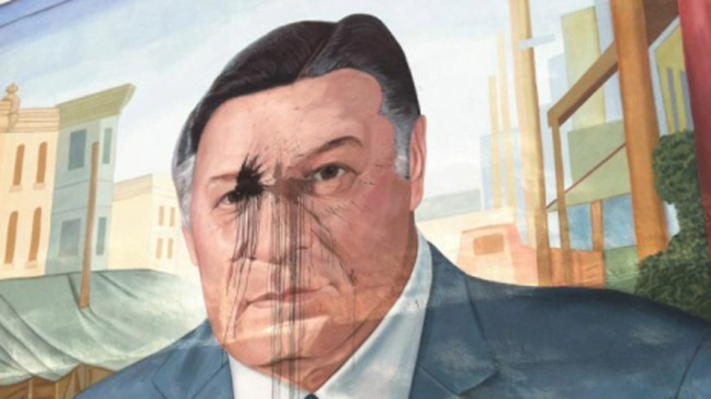 Frank Rizzo Mural Vandalized
