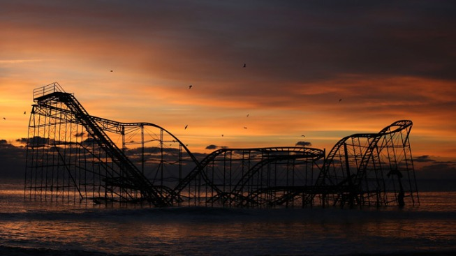 NJ Roller Coaster Submerged by Sandy to Go