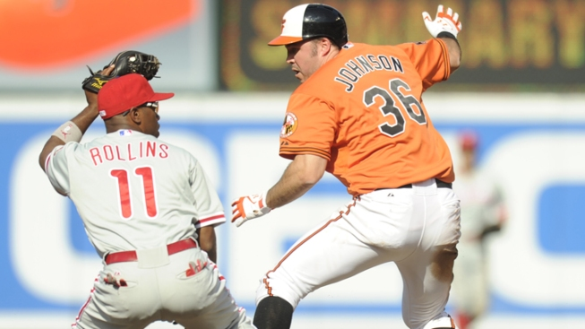 Jones' HR in 12th Lifts Orioles Over Phillies