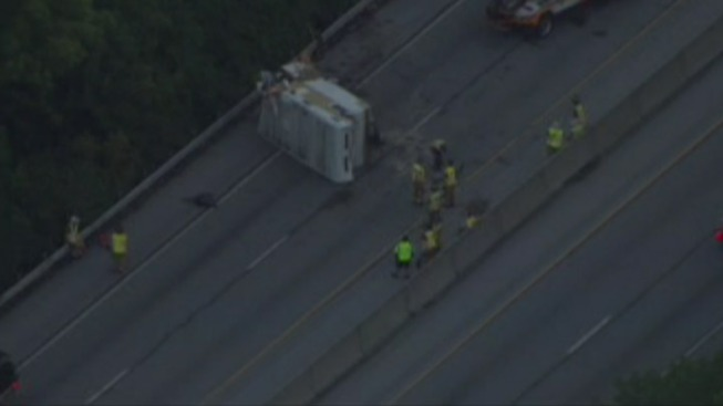1 Hurt After Tractor-Trailer Overturns on Rt. 30