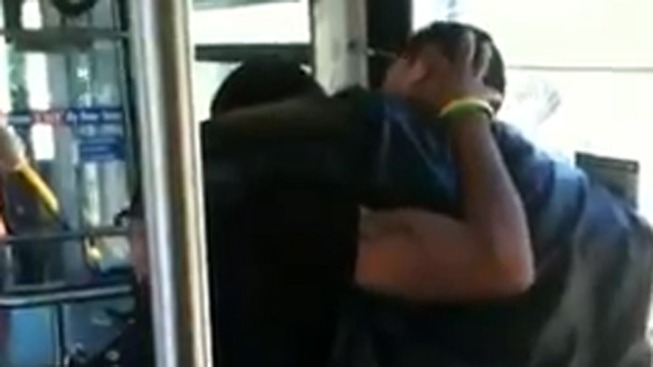 Caught on Cam: Man's Head Bashed Against Window During Bus Fight