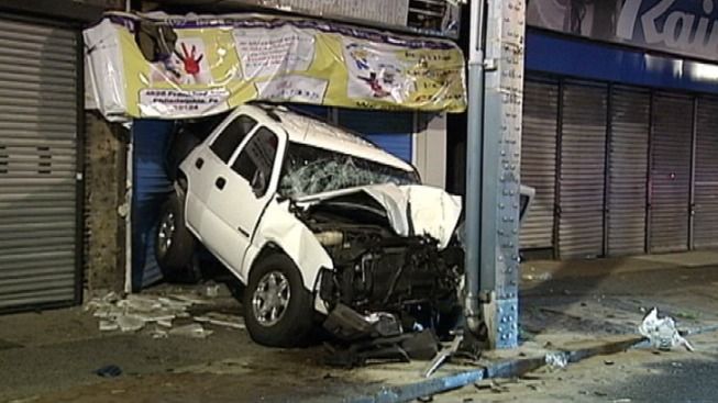 Man in Critical After SUV Slams Into Building