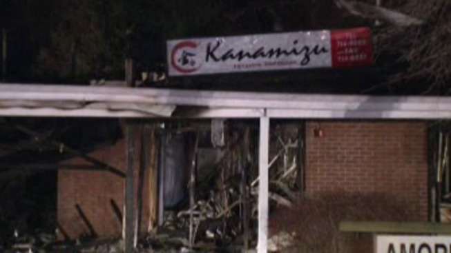 Firefighter Hurt, Businesses Damaged in Strip Mall Fire