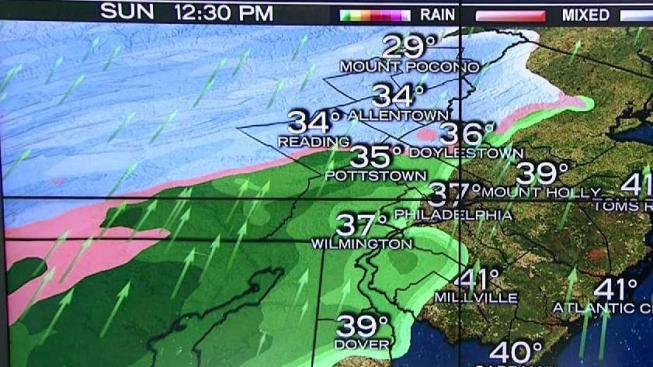Super Bowl Weather Forecast Rain And Snow Mix Nbc 10 Philadelphia