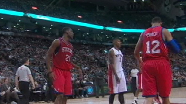Young Leads Sixers Past Raptors
