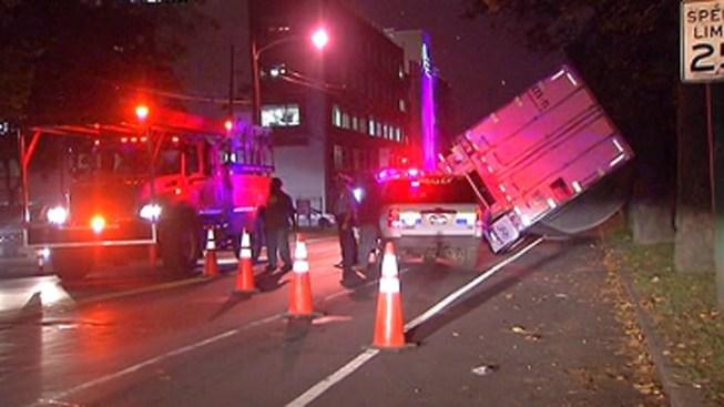 Tractor Trailer Accident Causes Bus Detour