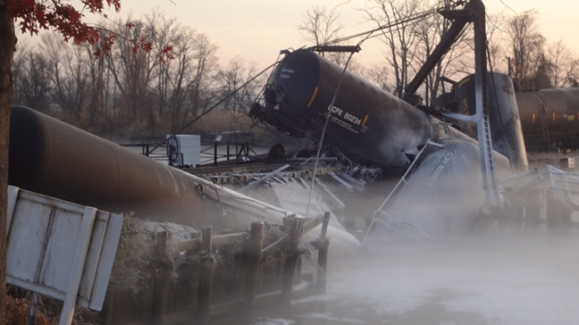 State Troopers Sue Over Chemical Leak After Train Derailment