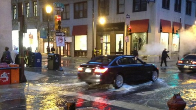 Water Main Break Causes Flooding in Center City Shopping Area