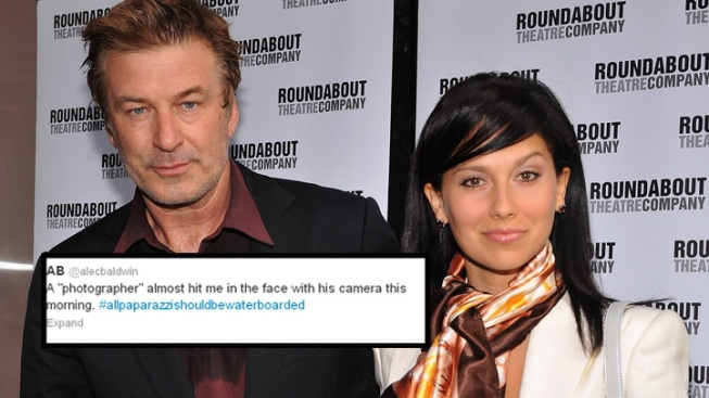 Alec Baldwin Tussles With Photogs Outside NYC Marriage License Office