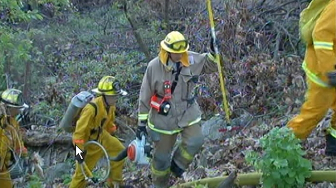 Brush Fire Burns in Allentown