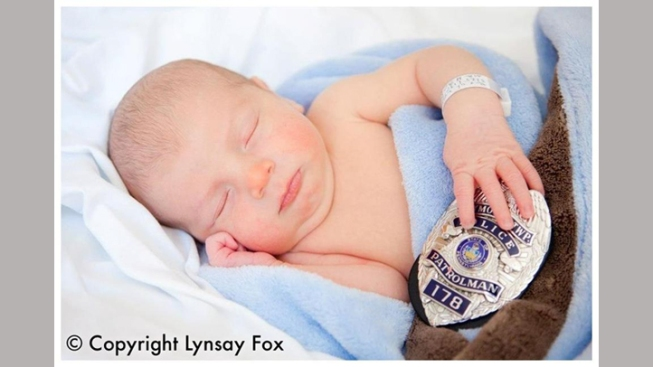 Our First Look at Slain Officer's Baby