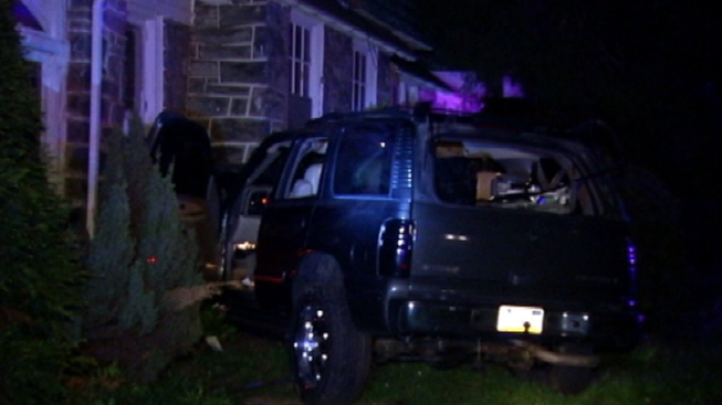 Car Slams Into Overbrook House