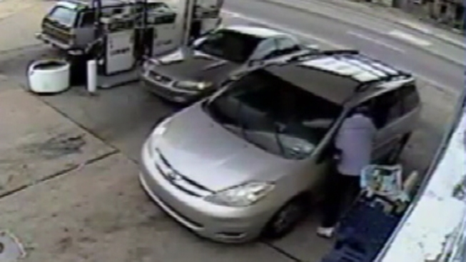 Carjacking Caught on Tape at Philly Gas Station