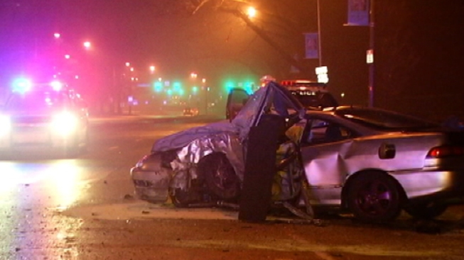 2 Injured After Car Crashes Into Tree in Northeast Philly