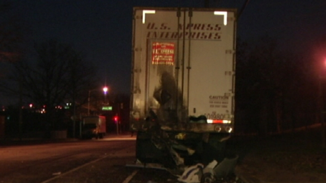 1 Dead After Car Slams Into Tractor Trailer in Torresdale