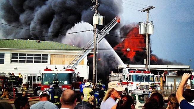 Witnesses Tweet from Seaside Park Fire