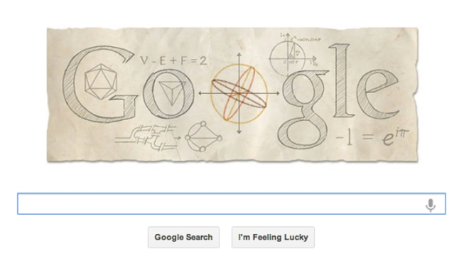 Google Doodle Celebrates Math Wiz Leonhard Euhler's Birthday