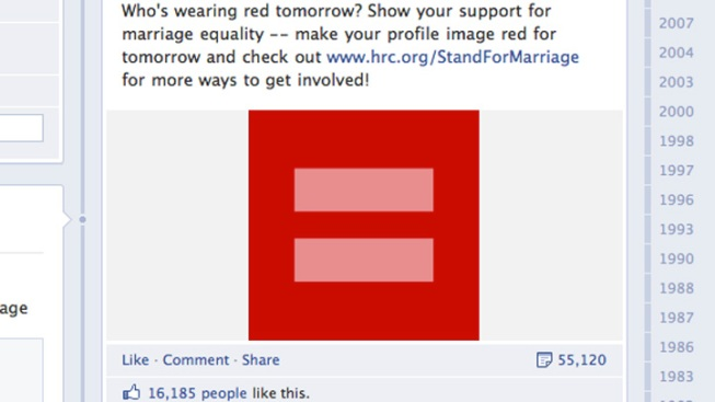 Why You're Seeing Red on Facebook Profiles