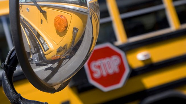 Van Towed by School Bus Breaks Loose, Causes Crash